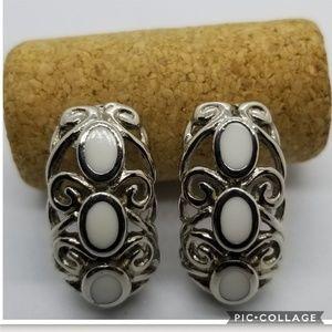 Trifari Silvertone Earrings
